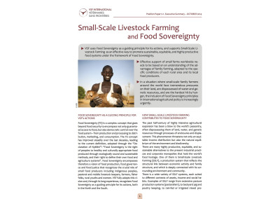 Small Scale Livestock Farming and Food Sovereignty