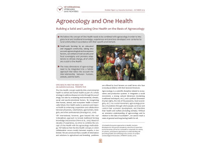 Agroecologie et One Health. Constuire durablement One Health sur la base de l'Agroécologie.