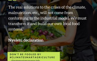 Over 350 civil society organisations say NO to 'Climate Smart Agriculture'