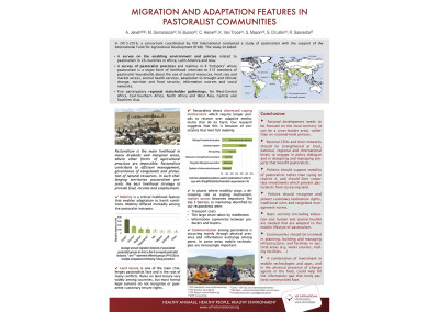 Poster: Migration and adaptation features in pastoralist communities
