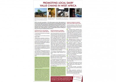 Poster: Promoting local dairy value chains in West Africa