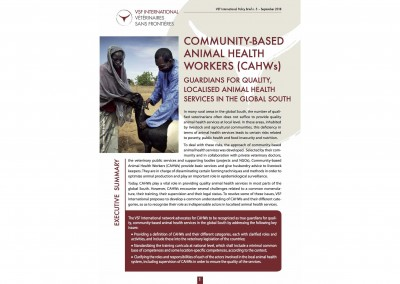 Community-Based Animal Health Workers (CAHWs): Guardians for quality, localised animal health services in the global South