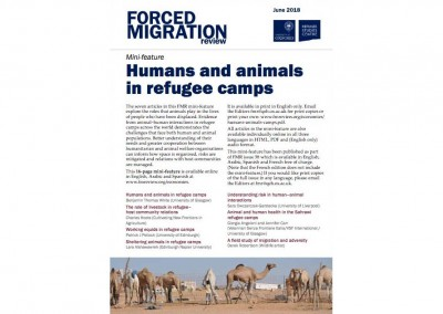 Humans and animals in refugee camps