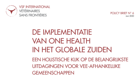 One Health Policy Brief, now available in Dutch